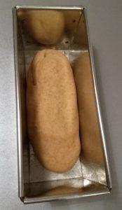 pain de mie à la farine complète avant la pousse