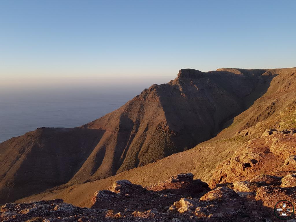 la vue vers Haria à Lanzarote