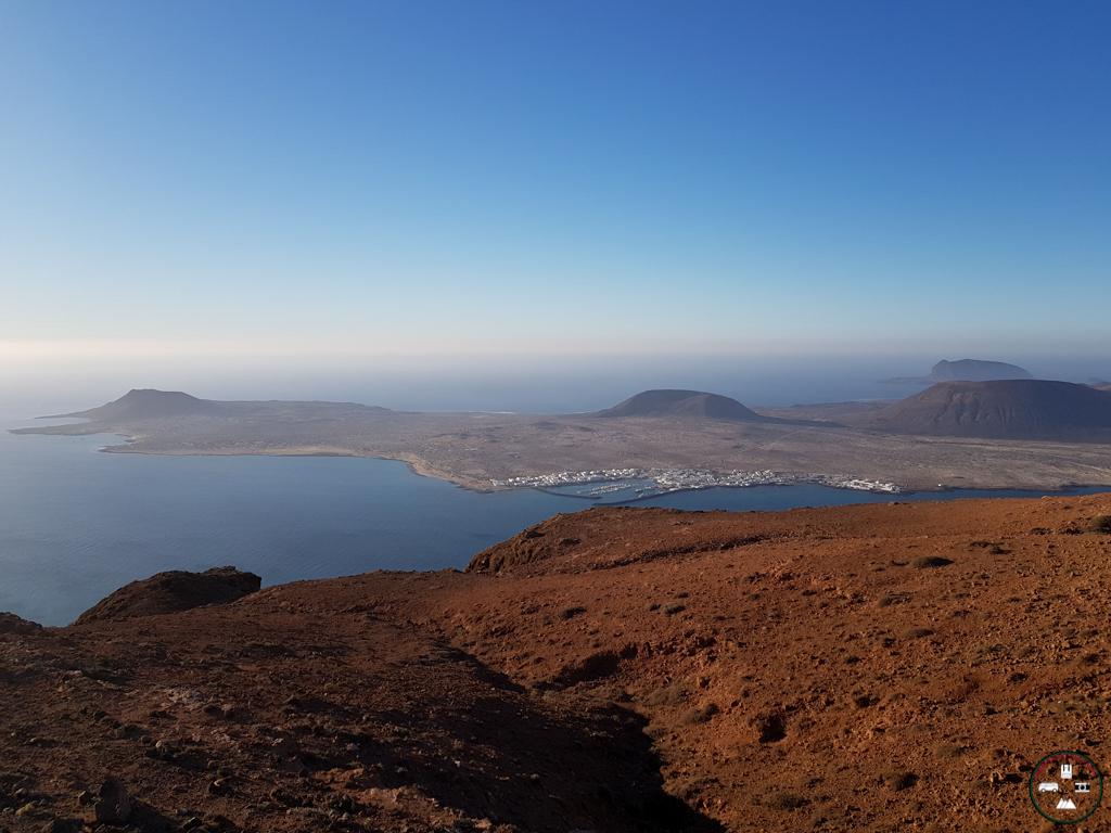 la vue depuis le mirador del RIo à Lanzarote