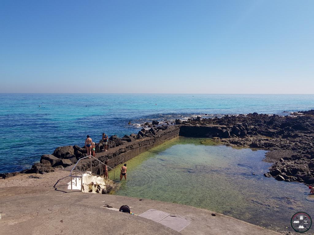 les bains de Punta Mujeres à Lanzarote