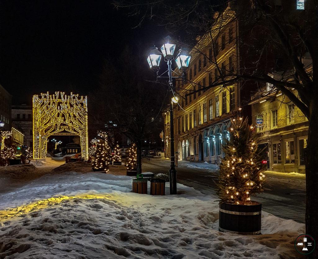 Lumières de Montréal sur le vieux-port