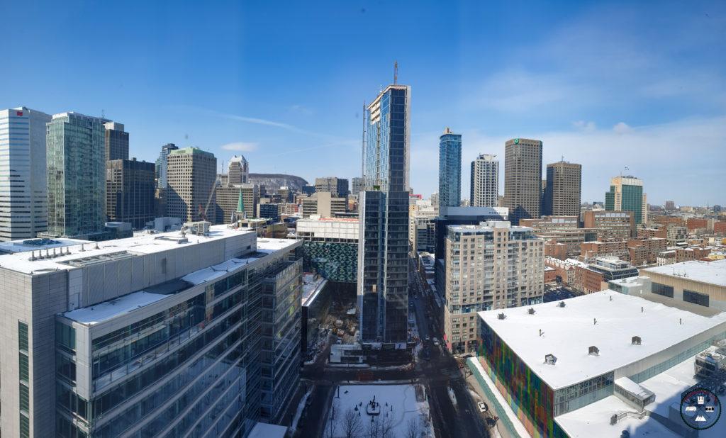 Panorama sur le centre ville de montréal