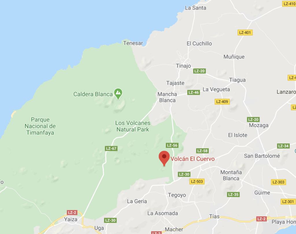 maps itinéraire volcan el cuervo