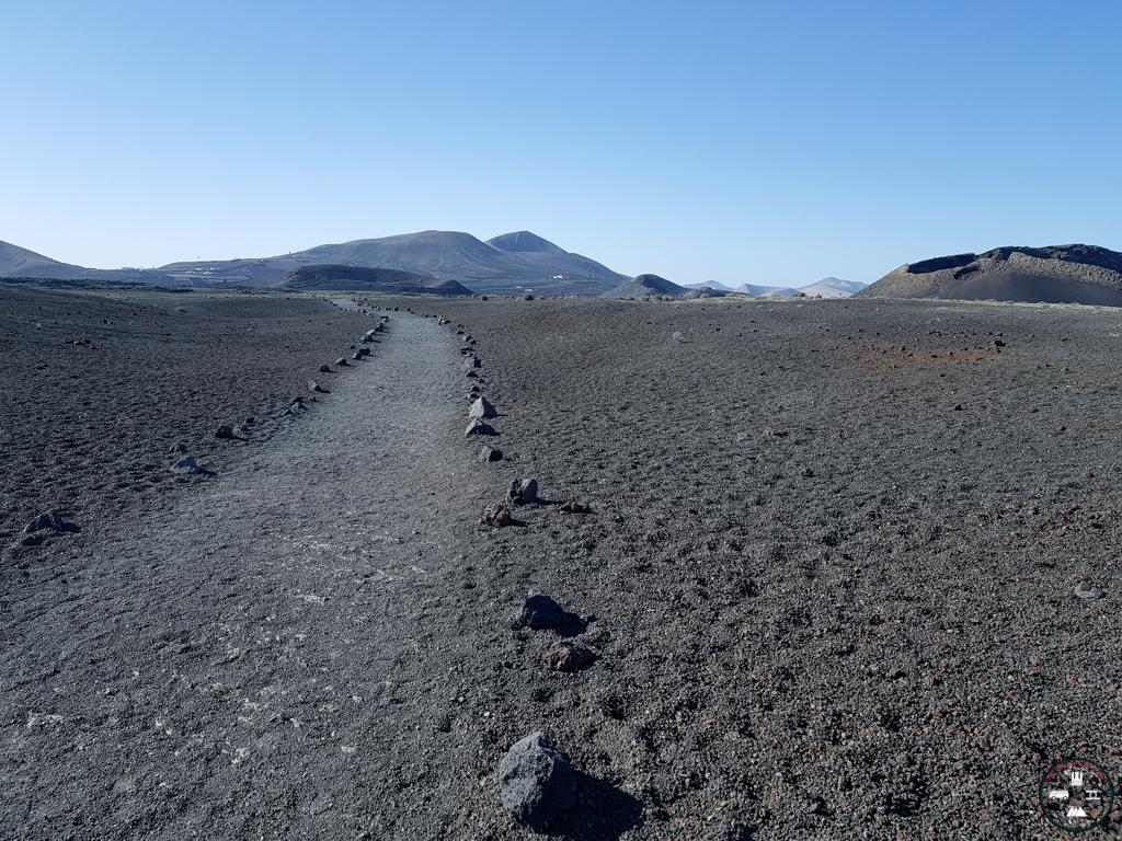 Chemin randonnée du volcan El Cuervo