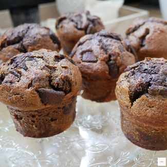 muffins au chocolat, muffins choco-café, recette choco café, recette muffins au chocolat