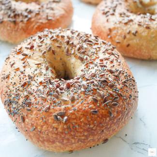 Bagels à la farine complète, recette bagels, recette bagel farine complete