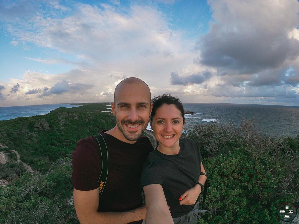 Nous à la pointe des chateaux en Guadeloupe