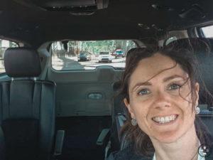 Alizée dans le van