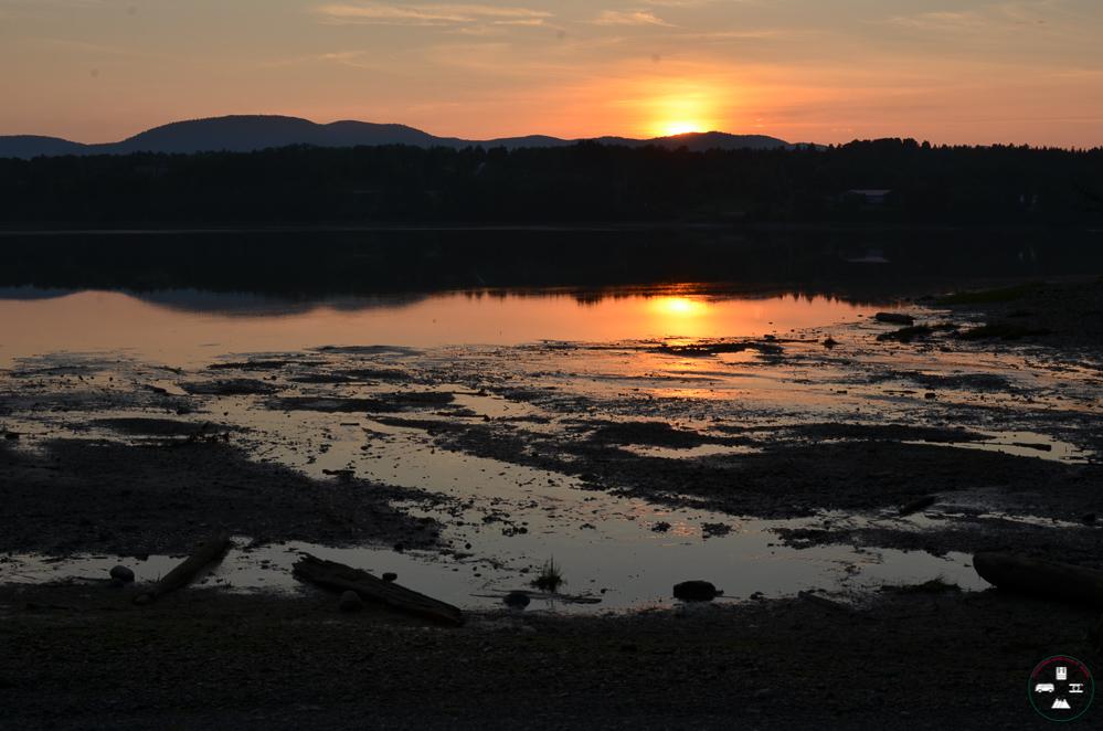 coucher du soleil à la baie des chaleurs