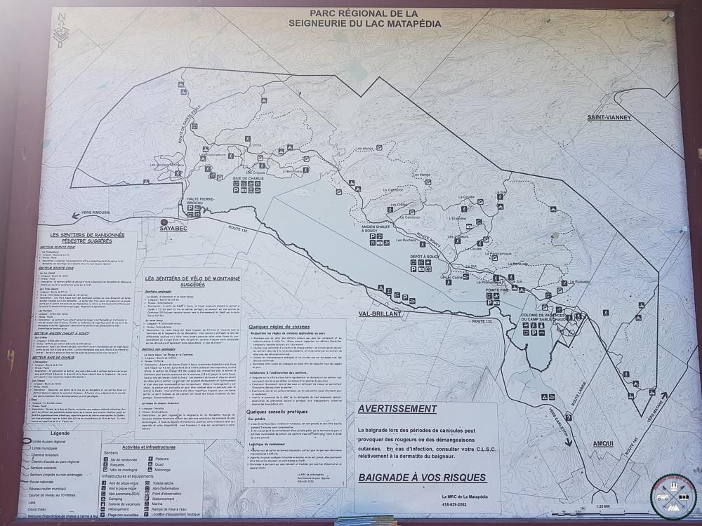 parc régional de matapedia