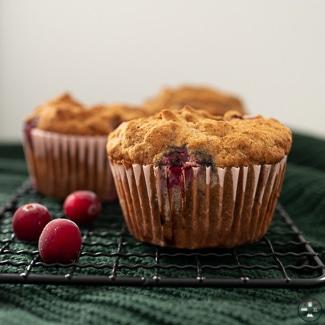 muffins, muffin sans gluten, muffin sans lactose, muffin sans beurre, recette muffins, muffins aux canneberges, recette muffin canneberge, recette muffin sans gluten
