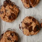 cookies sans farine, recette cookies sans farine, cookies, recette cookies, cookies beurre de cacahuete, recette biscuits cookies, patisserie, recette cookies chocolat, recette cookie sans gluten, cookie sans gluten, patisserie sans gluten