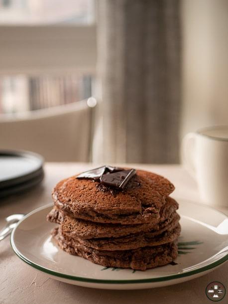 Pancakes à la noix de coco et cacao