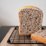 intérieur du pain sans gluten, découpe pain sans gluten