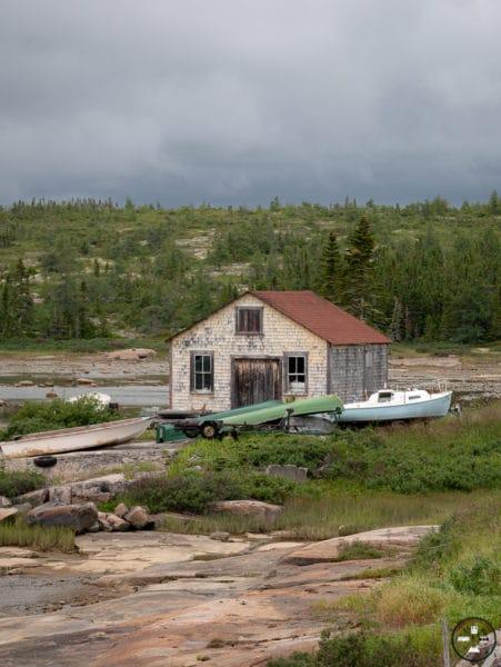 village sur la côte nord