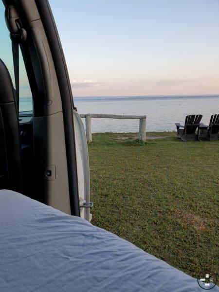 coucher dans le van observer les baleines