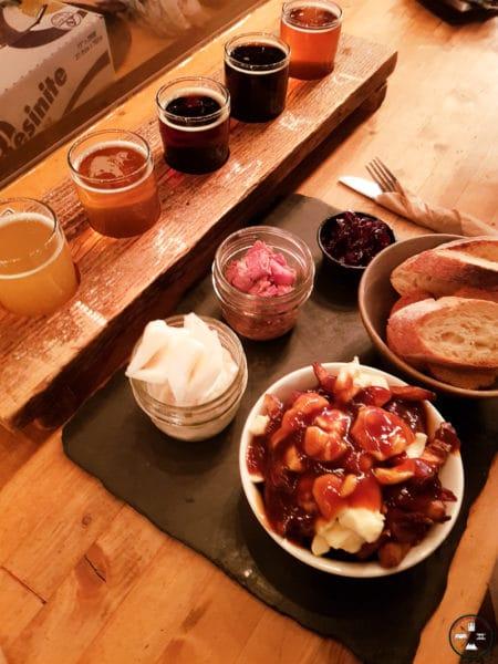 bière et repas à la microbrasserie de baie comeau