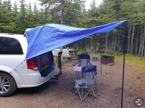 camping sous la pluie, vanlife sous la pluie