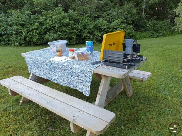 petit dejeuner en camping ou van aménagé