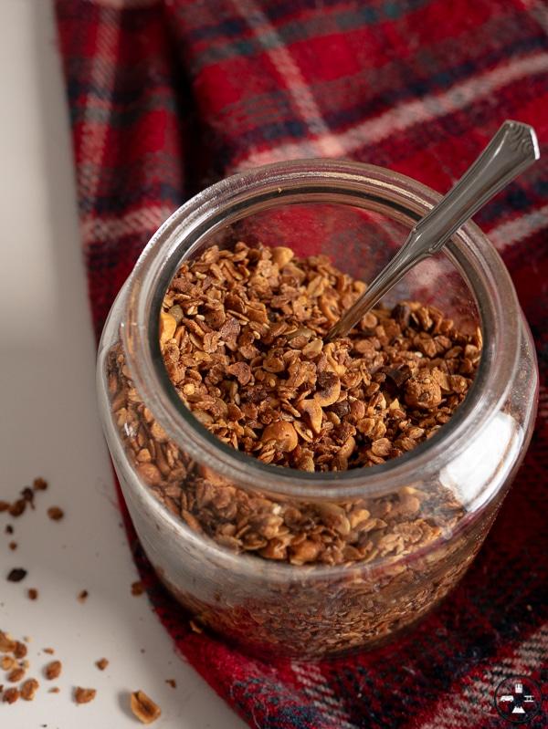 granola aux cacahuètes