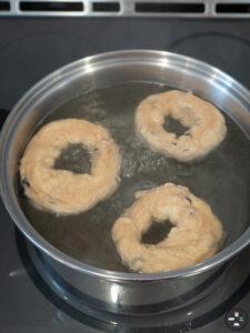 bagels aux bleuets cuisson vapeur