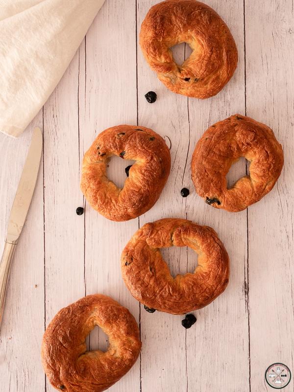 bagels aux bleuets pour gouter ou petit déjeuner