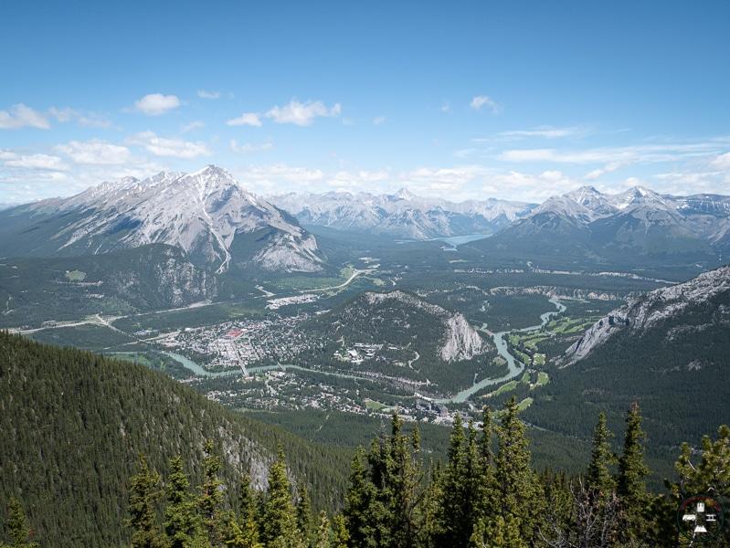 vue du mont sulphur à la ville de Banff